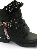 olcso Női pulóverek-Női Csizmák Kényelmes cipők Lapos Kerek orrú Mikroszálas Bokacsizmák Ősz & tél Fekete / Sárga / Szürke