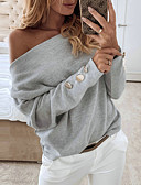 baratos Camisetas Femininas-Mulheres Camiseta Sólido Branco