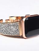 billige Smartwatch Bands-luksuriøs diamant stropp for epleklokke serie 5/4/3/2/1 armbånd stropp bling tsjekkisk stein dame armbåndsur for iwatch band 44mm / 40mm / 42mm / 38mm