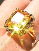 billige T-skjorter til damer-Dame Ring 1pc Gull Gullbelagt Geometrisk Form Stilfull Fest Daglig Smykker Klassisk Blomst Kul