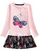 baratos Vestidos para Meninas-Infantil Para Meninas Floral Vestido Rosa