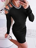 olcso Mini ruhák-Női Hüvely Ruha Egyszínű Térd feletti