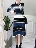 olcso Női ruhák-Női Boho Ízléses A-vonalú Ruha Színes Midi