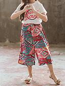 ราคาถูก ชุดดำน้ำ-เด็ก เด็กผู้หญิง ซึ่งทำงานอยู่ โบโฮ โรงเรียน เทศกาล ลายแถบ ลายพิมพ์ แขนสั้น ปกติ ปกติ ชุดเสื้อผ้า