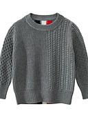 tanie Swetry i kardigany dla chłopców-Dzieci Dla chłopców Podstawowy Prążki Długi rękaw Sweter i kardigan Królewski błękit