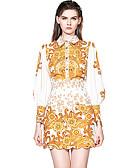 povoljno Ženski dvodijelni kostimi-Žene Sofisticirano Majica - Geometrijski oblici, Vezeno / Print Suknja