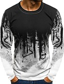 Χαμηλού Κόστους Ανδρικά μπλουζάκια και φανελάκια-Ανδρικά T-shirt Φλοράλ Λευκό