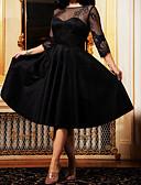 olcso Női ruhák-Női A-vonalú Ruha Egyszínű Midi