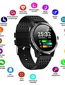 olcso Okos órák-Férfi Intelligens Watch Digitális Stílusos Szilikon Fekete / Kék 30 m Szívritmus monitorizálás Bluetooth Smart Digitális Divat - Fekete Kék Egy év Akkumulátor élettartama