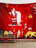 olcso Férfi zakók és öltönyök-Karácsony / Klasszikus téma Fali dísz 100% Poliészter Klasszikus / Modern Wall Art, Fali gobelinek Dekoráció