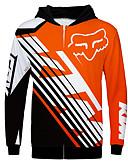 billige AirPods Cases-fox ktm 360 motorsykkel jersey klærjakke for unisex polyster vår / høst / vinter varmere / pustende / raskt tørr