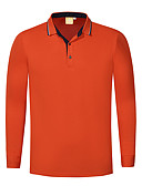 olcso Férfi pólók-Alap Férfi Polo - Egyszínű Fekete