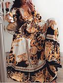 baratos Vestidos Longos-Mulheres balanço Vestido Geométrica Longo