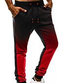 olcso Férfi nadrágok és rövidnadrágok-Férfi Sportos Melegítőnadrágok Nadrág - Többszínű Világos szürke Rubin Sötétszürke US32 / UK32 / EU40