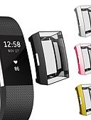 ราคาถูก วง Smartwatch-นุ่มชุบ tpu ป้องกันกรณีที่ชัดเจนดูสำหรับ f itbit ค่า 2 กรณีปกป้องกันหน้าจอเชลล์