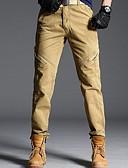 povoljno Muške duge i kratke hlače-Muškarci Osnovni Chinos Hlače - Jednobojni Crn Vojska Green Tamno siva US32 / UK32 / EU40 US34 / UK34 / EU42 US36 / UK36 / EU44