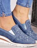 ราคาถูก นาฬิกาข้อมือแฟชั่น-สำหรับผู้หญิง รองเท้าผ้าใบ ส้นแบน ปลายกลม หนังนิ่ม ฤดูใบไม้ร่วง & ฤดูหนาว ฟ้า / สีชมพู / สีเทา