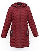 olcso Női hosszú kabátok és parkák-Női Egyszínű Kosaras, Poliészter / POLY Fekete / Rubin / Lóhere XL / XXL / XXXL