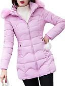 olcso Női hosszú kabátok és parkák-Női Színes Kosaras, Poliészter / POLY Fekete / Arcpír rózsaszín / Medence M / L / XL