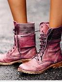 olcso Fiú ruházat-Női Csizmák Kényelmes cipők Lapos Kerek orrú PU Magas szárú csizmák Tél Barna / Piros / Kék