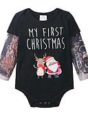 זול אוברולים טריים לתינוקות לבנים-מקשה אחת One-pieces שרוול ארוך קולור בלוק סנטה קלאוס בנים תִינוֹק
