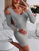 olcso Női ruhák-Női Alap Bodycon Hüvely Ruha Egyszínű Mini