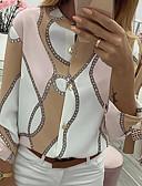 billige Bluser-Skjorte Dame - Fargeblokk Kakifarget