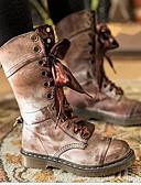 povoljno Kompletići za bebe-Žene Čizme Udobne cipele Ravna potpetica Okrugli Toe PU Čizme do pola lista Zima Crn / Crvena / Sive boje