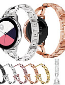 billige Smartwatch Bands-smykker diamanturband for samsung galaxy watch active 2 / galaxy watch 42mm / gear s2 classic / gear sport utskiftbart rustfritt stål armbånd armbånd stropp armbånd