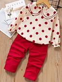 povoljno Kompletići za bebe-Dijete Djevojčice Osnovni Na točkice Dugih rukava Regularna Komplet odjeće Plava
