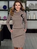 olcso Női ruhák-Női Alap Hüvely Ruha Virágos Térdig érő