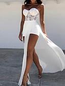 Χαμηλού Κόστους Φορέματα κοκτέιλ-Ίσια Γραμμή Καρδιά Ασύμμετρο Σιφόν Μινιμαλιστική Κοκτέιλ Πάρτι / Αργίες Φόρεμα 2020 με Με Άνοιγμα Μπροστά / Εισαγωγή δαντέλας