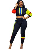 povoljno Ženski dvodijelni kostimi-Žene Aktivan Hoodie - Color block Hlače