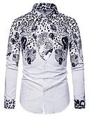 olcso Férfi pólók-Férfi Ing - Egyszínű Fehér