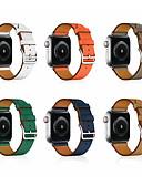 ราคาถูก วง Smartwatch-สายนาฬิกาสำหรับแอปเปิ้ลดูซีรีส์ 5/4/3/2/1 แอปเปิ้ลคลาสสิกหัวเข็มขัดสายรัดข้อมือหนังแท้
