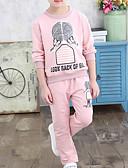olcso Lány divat-Gyerekek Lány Alap Hétköznapi viselet Mértani Hosszú ujj Szokványos Ruházat szett Arcpír rózsaszín