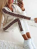 billige Jumpsuits og sparkebukser til damer-Dame Fritid Aktive Klær Sett Leopard