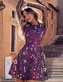 olcso Női ruhák-Női Alap A-vonalú Ruha Mértani Térd feletti