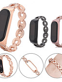 baratos Bandas de Smartwatch-Para xiaomi mi band 4/3 pulseira de pulseira de aço inoxidável