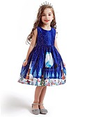 olcso Lány ruhák-Gyerekek Lány Aktív Édes Mikulás Karácsony Nyomtatott Ujjatlan Térdig érő Ruha Medence