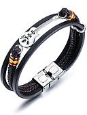 cheap Women's Blouses-Men's Bracelet Geometrical Guitar Fashion Titanium Steel Bracelet Jewelry Black For Daily Work