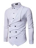 ราคาถูก เสื้อเชิ้ตผู้ชาย-สำหรับผู้ชาย เชิร์ต สีพื้น สีดำ