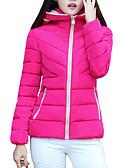 olcso Női hosszú kabátok és parkák-Női Egyszínű Rövid Kosaras, Poliészter Bor / Fukszia / Lóhere M / L / XL