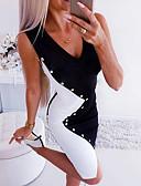 olcso Mini ruhák-Női Bodycon Ruha Színes Térd feletti