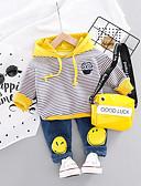 billige Baby Gutter topper-Baby Gutt Aktiv / Grunnleggende Geometrisk / Trykt mønster Trykt mønster Langermet Normal Normal Tøysett Oransje