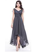 povoljno Haljine za djeveruše-Žene Elegantno Slim Swing kroj Haljina Jednobojni V izrez Asimetričan