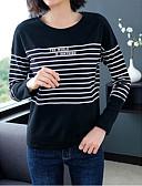 billige T-skjorter til damer-T-skjorte Dame - Fargeblokk Svart