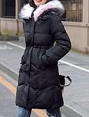 olcso Női hosszú kabátok és parkák-Női Színes Kosaras, Poliészter / POLY Fekete / Fehér / Arcpír rózsaszín M / L / XL