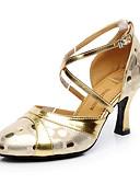 povoljno Prsluci-Žene Plesne cipele Koža Moderna obuća Štikle Kubanska potpetica Moguće personalizirati Zlato / Srebro