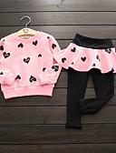 povoljno Kompletići za djevojčice-Djeca Djevojčice Aktivan Print Dugih rukava Pamuk Komplet odjeće Blushing Pink